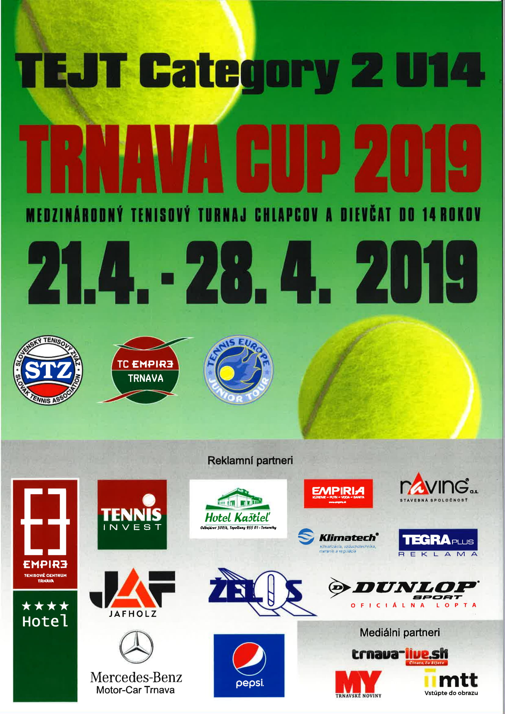 20190420 Trnava Cup 2019  TEJT Category 2 U14